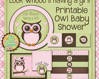 Printable Owl Baby Shower