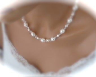 Bridal Pearl Necklace Wedding Jewelry Bridesmaid Necklace Pearl Jewelry