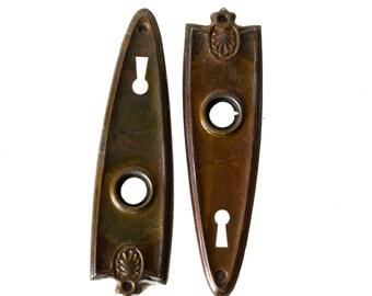 Vintage Art Deco Back or Cover Plates, Stamped Steel - E1563