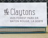 Custom Address Stamp, Return Address Stamp, Wedding address stamp, Self inking address stamp, Personalized Stamp - Clayton