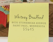 Self Inking Address Stamp - handwriting style - Personalized Stamp - Bradford