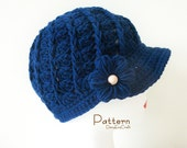 Symbol Crochet PATTERN and Colorful step by step images - PDF format - Crochet Hat - Twirl Cap - Instant download