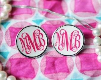 Custom Monogram Earrings