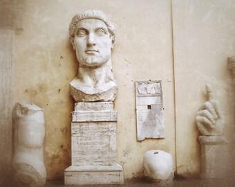 Fine Art photography, Rome, Italy, sculpture, Capitoline, head, antique, 8x10