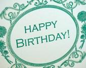 SALE - Happy Birthday Letterpress card - Ambrose