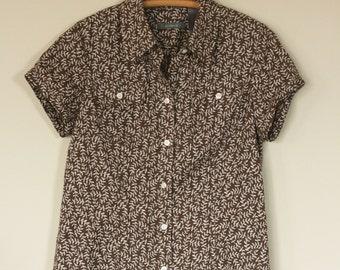 vintage liz claiborne 90's linen blend blouse size S