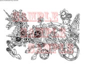 A Clockwork Pony Cart for Helen  digi stamp