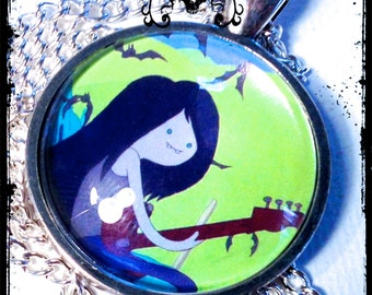 MARCELINE . Glass Pendant Necklace . ADVENTURE TIME . Vampire . Kawaii Cosplay . GirlGameGeek