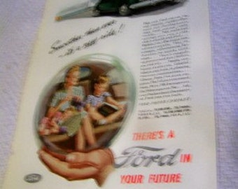 There is a Ford in your future 1945 ad WWII Era