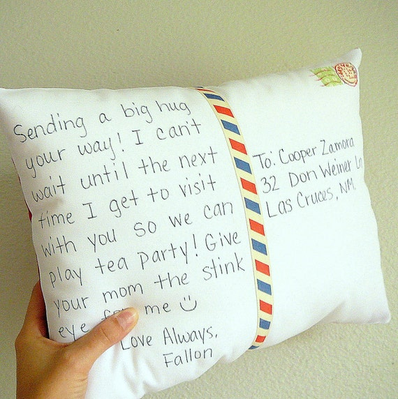 Personalize a Postcard Pillow  - Decorative Pillow - Mother's Day - Personalised - Custom - Birthday - Anniversary - Gift for Mom
