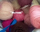 MATURE - Crochet Vulva Vagina Feminist Brooch Pin