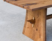 Live Edge Coffee Table - Reclaimed Hardwoods - Asian Inspired - Custom Furniture - Occassional table - Handmade in USA
