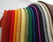 The Complete Collection of 100% Pure Wool Felt  - 16 Piece Assortment