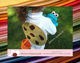 Felt Chocolate Chip Cookie Costume for Big Kids - DIY Felt Pack - All the felt you need - Pattern included