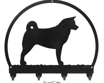 Akita Black Metal Key Chain Holder Hanger