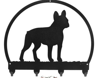 French Bulldog Black Metal Key Chain Holder Hanger