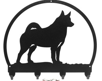 Norwegian Elkhound Metal Key Chain Holder Hanger