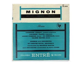 """Ronald Clyne record album design, c.1953. """"Mignon"""" LP"""