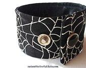 Glow Spiderweb Cuff Bracelet