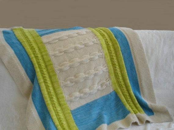 Knitting PATTERN Patchwork Baby Blanket 2 PDF