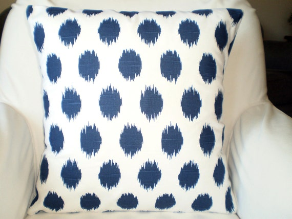 Navy Blue Decorative Bed Pillows: Navy Blue White Pillow Covers, Decorative Throw Pillows