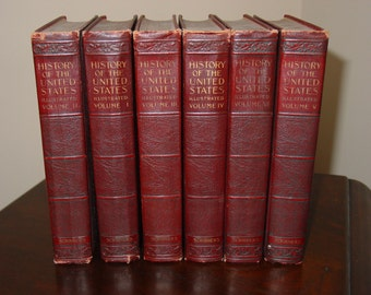 """Six Volume Set """" History of the United States """" by E. Benjamin Andrews published 1925"""