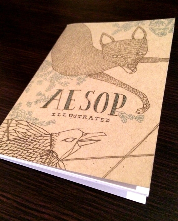 12 aesop fables illustrated book by dgillustration on etsy