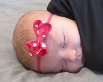 "Newborn 2"" Print Bows - Choose from 63 colors - Small Bows - Headband Hair clip bows - Neon - Infant bows - bow headband - Newborn"