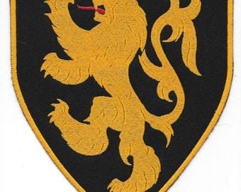 Large Lion Rampant Heraldry Patch