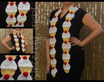 Custom Crochet Cupcake Scarf