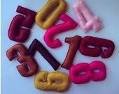 Felt 0-9 number Set- Handmade 10 letters- Multi-Color- Comes in a gift bag