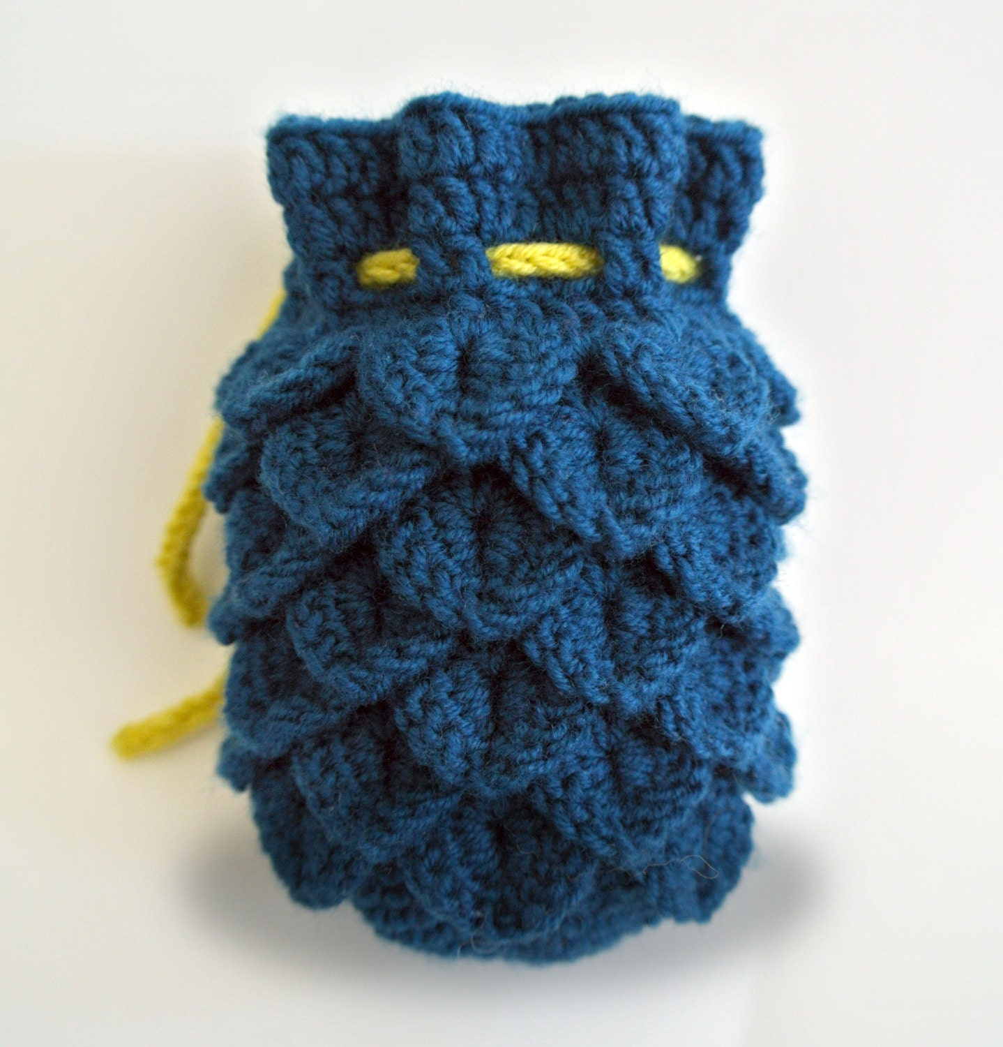 Knitting Pattern Dragon Scales : Dragon Scale Dice Bag Pattern only