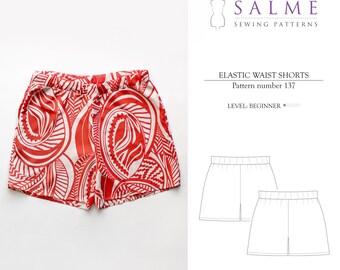 PDF Sewing pattern - Elastic waist shorts
