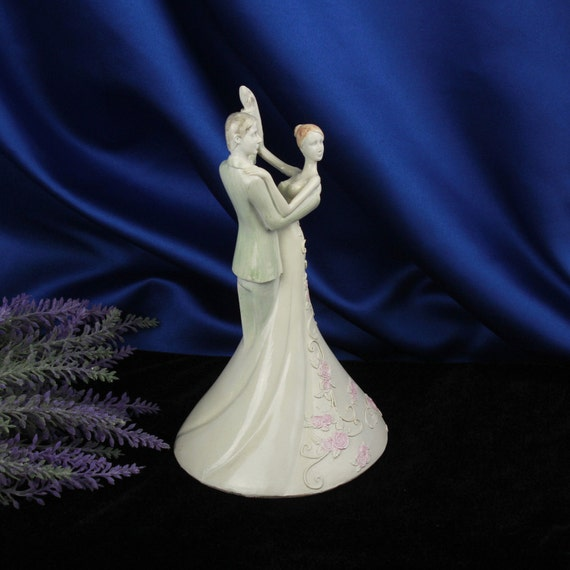 Art Deco Style Cake Topper : Vintage Art Deco style Wedding Cake Topper