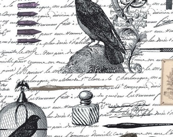 Nevermore Edgar Allan Poe Fabric Michael Miller