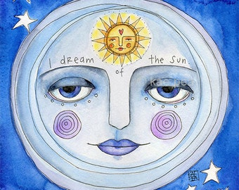 I dream of the sun. 8 x 8 print from my original painting