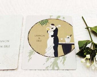 Art Deco Wedding Invitation, Vintage Glam, Vintage Hollywood, The Great Gatsby, Art Deco Party, Vintage Hollywood, My Man Godfrey
