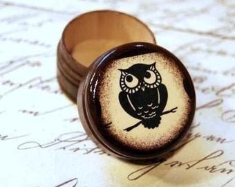 Black - Owl Pill Box - Stocking Stuffers