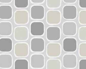Classical Elements By P&B Textiles - Modern Neutral Tan, Gray, Taupe and White Quilt Fabric Geometric