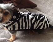 Zebra Faux Fur Dog Jacket