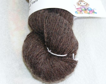 Brown  cashmere/cotton blend recycled yarn