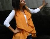 Mohair circular vest / knitted mohair waistcoat/ sleeveless knitted jacket