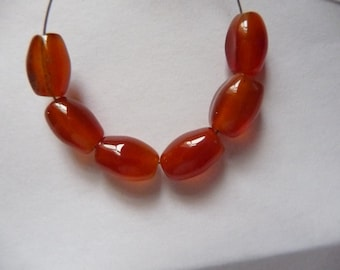 Bead, Red Agate, Gemstone, Dyed ,Heated, 9x5mm to10x6mm, Oval,  Pkg Of 11 beads.