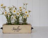 Mason Jar Wood Planter Box Wedding or Home Decor.  Color No. 4(Beige) Country Chic