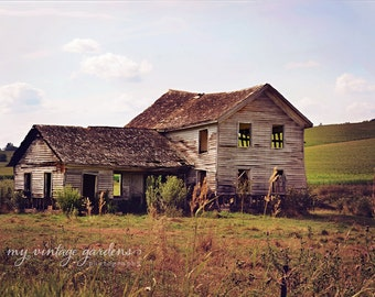 Old abandon house-summer photography-old house photo-forgotten home -abandon(5 x 7 Original fine art photography prints) FREE Shipping
