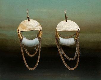 MInt sequin Loop Earrings