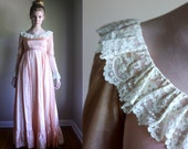 RESERVED FOR PETRA Vintage Jane Austen Style Costume from 1970s