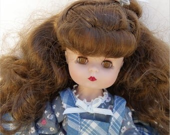 "EFFANBEE BETH DOLL, 1980's, 8 1/2"" Vinyl ""Little Women"" Series, Vintage Boxed Doll"