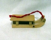 Wooden Miniature Snow Sled