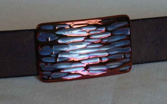 "Hypoallergenic Suit Belt Buckle ~  Multicolour ~  Blue, Purple, Plum, Fuschia Stainless Steel Buckle Fits 1.25"" Belt Canadian Made Originals"